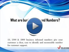 Business inbound numbers 13/1300/1800 helps you for solved the problem regarding to information, complaint, reservation and sales help. From these numbers you never missed any call. For more information you just visit https://www.vtelecom.com.au
