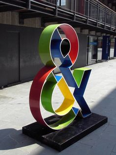 A colourful sculpture of an ampersand taken near the OXO tower in London