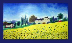 La Toscana - Óleo sobre tela - 140x80  oil on canvas  #Artwork #drawing #painting