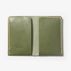 Leather Card Case - Open