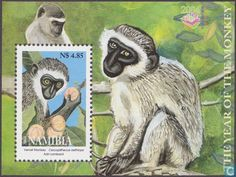 Postage Stamps - Namibia - Year of the monkey