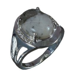 925 Solid Sterling Silver Ring Natural Ice Pyrite Gemstone US Size 8.25 JSR-624 #Handmade #Ring