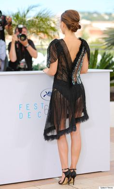 Is anyone else just so OVER the sheer dress? - Natalie Portman Takes Sheer To The Next Level At Cannes Film Festival