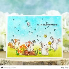 mama elephant | design blog: Dandelion Wishes with Amy