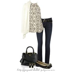 """""""Black and Cream"""" by jaycee0220 on Polyvore"""