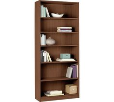 Buy HOME Maine Tall and Wide Extra Deep Bookcase - Walnut Effect at Argos.co.uk, visit Argos.co.uk to shop online for Bookcases and shelving units, Bookcases, shelves and DVD storage, Storage, Home and garden