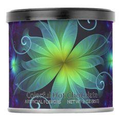 #Beautiful Blue-Green Stargazer Lily Fractal Flower Powdered Drink Mix - #Chocolates #Treats #chocolate