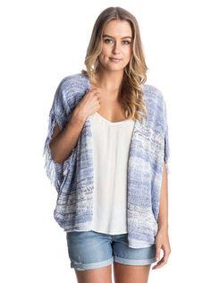 roxy, Shaba Waterfall Sweater, Patriot Blue - Solid (bsh0)