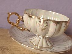 Antique 1950's Royal Sealy china tea cup set by ShoponSherman, $49.00