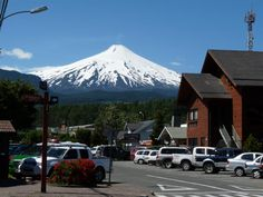 Pucon City with Villarrica volcano in background The Places Youll Go, Cool Places To Visit, Places To Travel, Places Ive Been, Places To Go, Romantic Places, Beautiful Places, Amazing Places, Sur Chile