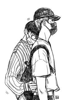 Kpop Drawings, Cute Drawings, Boy Character, Character Design, Cute Love Wallpapers, Manga Anime, Anime Guys, Ulzzang Couple, Jaehyun Nct