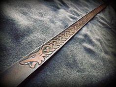 Norse Knotwork Wolf Viking Belt by BeastmanCaravan on Etsy