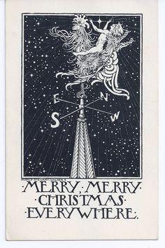 Etsy Vintage Team: An art nouveau Christmas greeting ...