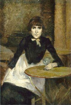 At La Bastille (aka Jeanne Wenz)  1889 Henri de Toulouse-Lautrec