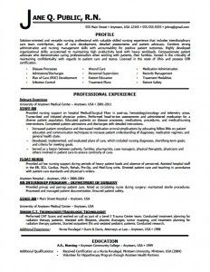 format of resume for job application