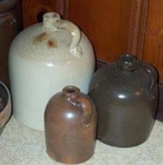 Down-to-Earth Antiques: Collecting Utilitarian Stoneware: Antique Stoneware Jugs