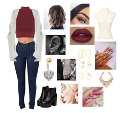 """Untitled #9"" by maddiecau99 ❤ liked on Polyvore featuring WearAll, Charlotte Russe, Pinkrocket and BDG"