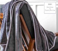 Dekoratívne francúzske deky a prikrývky v tmavosivej farbe
