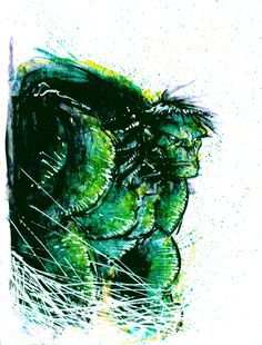 Hulk Painting by skottieyoung.deviantart.com on @deviantART