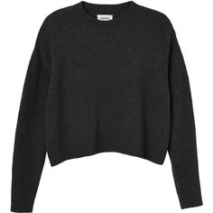 Monki Vanja knitted top (€20) ❤ liked on Polyvore featuring tops, sweaters, shirts, jumpers, grey dark cloud, dark shirt, grey sweater, layered shirt sweater, grey jumper and gray top