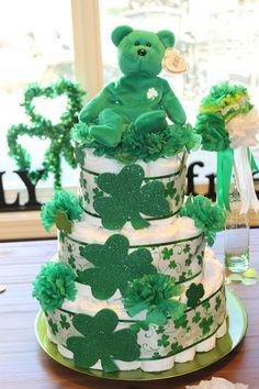 Irish Diaper Cake - Irish Italian Blessings