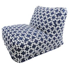 Showcasing a bold navy blue links motif, this lounger is perfect for sharing cocktails on the patio or adding a pop of color to your living room seating grou...
