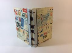 Antique Mail Library Card Wedding Guest Book  108 by bindingbee