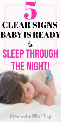 Check out these 5 clear signs that baby is ready to sleep through the night for all the pointers you'll need to kick off your baby sleep training journey! These baby sleep tips will have you ready to get your baby sleeping longer stretches in no time! Getting Baby To Sleep, Help Baby Sleep, Toddler Sleep, Get Baby, Kids Sleep, Baby Boy, Baby Sleep Through Night, Sleeping Through The Night, Baby Sleep Schedule