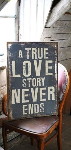 """A true love story …"" ~ anon"