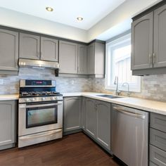 Kitchen Remodel On A Budget Nuvo Hearthstone Cabinet Paint Kit - Refacing Kitchen Cabinets, Kitchen Cabinet Remodel, Painting Kitchen Cabinets, White Cabinets, Kitchen Countertops, Rustic Cabinets, Antique Cabinets, Refinish Cabinets, Wood Cabinets