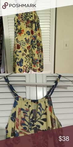 Anthropologie by Vanessa Virginia Dress Anthropologie by Vanessa Virginia Dress, size 0, hits just above the knee. Yellow Floral print, perfect for Spring. Great condition Anthropologie Dresses Mini