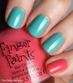 Becca should do this to her nails the day of the shower...Seuss colored nails :)