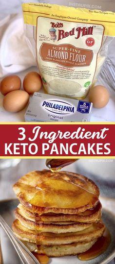 Keto Cream Cheese Pancakes, Low Carb Pancakes, Pancakes Easy, Homemade Pancakes, Breakfast Pancakes, Cream Cheese Keto Recipes, Breakfast Gravy, Cream Cheeses, Low Carb Recipe With Cream Cheese