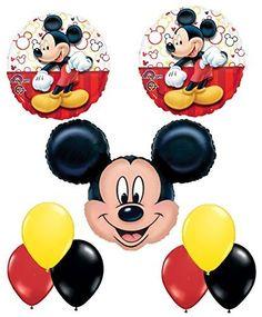 NEW Mickey Mouse Balloon Decoration Kit Party Supplies http://www.amazon.com/dp/B00XO05U80/ref=cm_sw_r_pi_dp_qbW9vb1P4VWKB