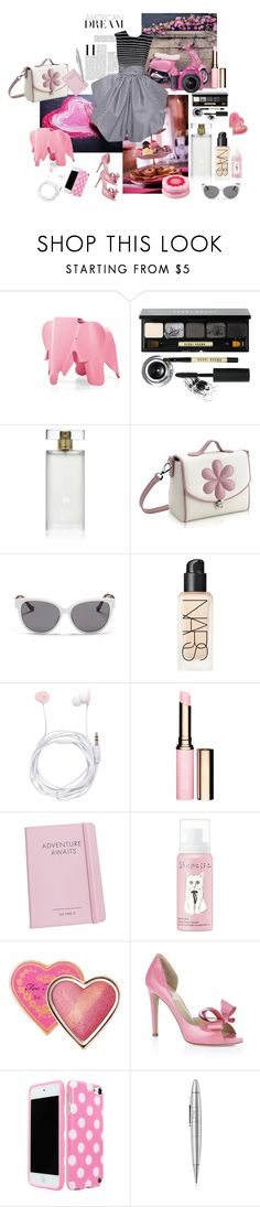"""""""Girly"""" by nathalie-puex ❤ liked on Polyvore featuring Charles and Ray Eames, Bobbi Brown Cosmetics, Estée Lauder, Pineider, Giambattista Valli, The Row, NARS Cosmetics, Forever New, Clarins and shu uemura"""