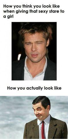 HAHAHAHAHA, I certainly hope I don't look like Mr. Bean!!! CREEPY! :P