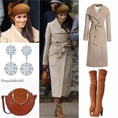 ♥WMW♥ - Sentaler Long Wide Collar Wrap Coat, Camel (£986)♥Chloé 'Pixie' Small Round Bag (US$1,550)♥Stuart Weitzman 'Highland' Boot in Nutmeg (US$795/Sold Out)♥Dents 'Ripley' Women's Fur Lined Cognac Leather Gloves (£129)♥Birks Snowflake® Large Round Jacket Earrings ($5,995)♥Philip Treacy Nutmeg Brown Velour Beret Hat with Twist Detail (bespoke)