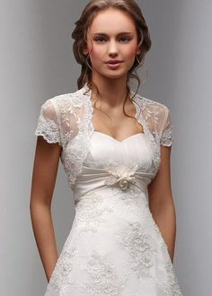 Cheap ivory wedding jackets, Buy Quality lace bolero directly from China bridal wraps Suppliers: 2017 New Fancy Wedding Shawl Short Sleeves White Ivory Wedding Jacket Lace Bolero Bridal Wrap Custom Country Wedding Dresses, Wedding Suits, Bridal Dresses, Wedding Gowns, Lace Dresses, Elegant Dresses, Trendy Wedding, Sophisticated Wedding, Dresses 2014