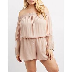 Plus Size Pink Off-The-Shoulder Romper - Size 1X