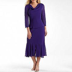 S.L. Fashions 2-Pc Draped Chiffon Skirt Set - jcpenney