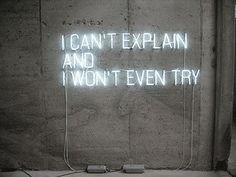 Can't explain