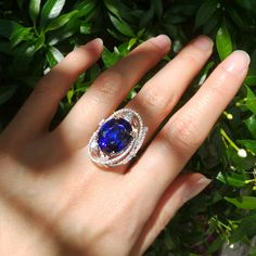 All the beauty of life is made up of light and shadow. Featuring ct vivid blue Tanzanite ring, the gorgeous stone is… Diamond Finger Ring, Art Deco Diamond Rings, Art Deco Ring, Ruby Diamond Rings, Diamond Art, Gems Jewelry, Jewelry Gifts, Jewelery, Fine Jewelry