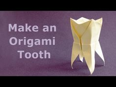 We Love this fun dental stuff! This is a super cute youtube video providing instructions on how to make an Origami Tooth! He he he! www.whatasmile.com #whatasmile, #lovemydentist, #knoxville