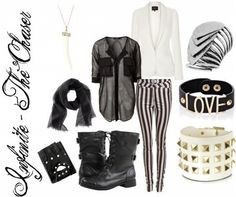 """Outfit inspired by: Infinite's """"The Chaser"""" MV."""