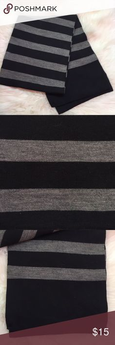 Express Men's Long 100% Wool Black and Gray Scarf Good condition. Black and Gray wool scarf. Express Accessories Scarves