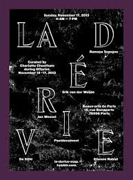 La Dérive poster by Pierre Vanni Creative Art, Creative Design, Paris 14, Art Book Fair, Beaux Arts Paris, Japanese Typography, Booklet Design, Typography Layout, Lettering
