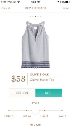 SF stylist- I love the light color of this cotton too. I like the subtle detail at the bottom.