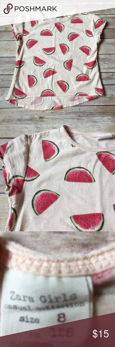 Zara Girls Zara Girls size 8 watermelon tee. Excellent condition. No stains. Perfect tee for summer! Zara Shirts & Tops Tees - Short Sleeve