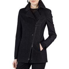 Akris Punto Jersey Velvet Biker Jacket ($1,490) ❤ liked on Polyvore featuring outerwear, jackets, dark gray, motorcycle jacket, straight jacket, velvet jacket, akris punto jacket and jersey jacket