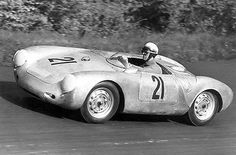 1956 Porsche Type 550 A Spyder at Nurburgring 1000km Race - Photo Poster